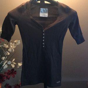 Hollister Ripped v-neck knit shirt